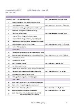 ATAR Geography Course Outline - Year 12 WA