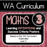 WA MATHS YEAR 3 Learning INTENTIONS Posters & Success Criteria EDITABLE