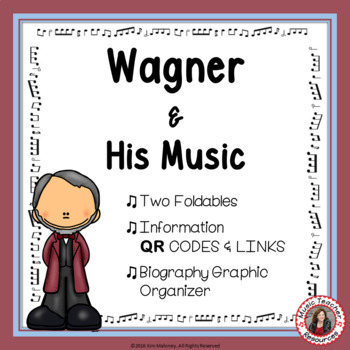 Music Listening: Music Composer WAGNER: Interactive Listening Journal Foldables