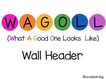 WAGOLL (What A Good One Looks Like) Wall Header