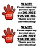 WAIT! Printable sign to alert others of student's need for