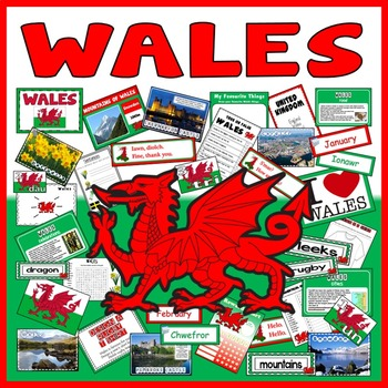 WALES TEACHING RESOURCES KS1-2 WELSH LANGUAGE UK GEOGRAPHY TRADITIONS