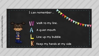 WALK Lining Up Social Story