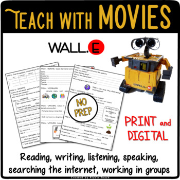 WALL.E - Movie worksheet - Earth, space, pollution, recycling... Earth Day