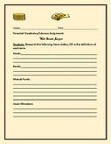 WALL STREET JARGON: A FINANCIAL LITERACY ASSIGNMENT