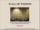 WALL of WISDOM - A Character Education Bulletin Board