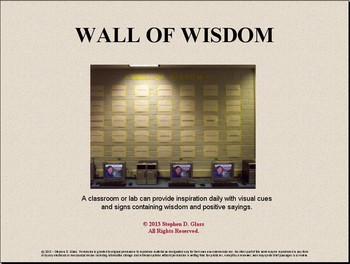 WALL of WISDOM - A Character Education Bulletin Board by ...