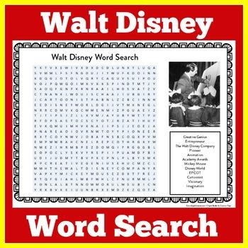 WALT DISNEY ACTIVITY ( WORD SEARCH)