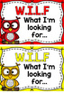 WALT (Learning Intention) & WILF (Success Criteria) Posters- Owls