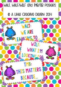 WALT, WALF/WILF, TMB/TIB posters