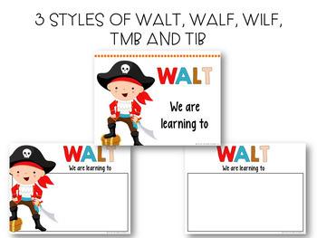 WALT, WALF/WILF and TMB/TIB posters- pirate theme