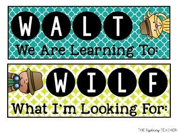 WALT & WILF: Learning Intention Poster FREEBIE