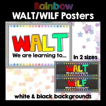 WALT WILF Rainbow Posters