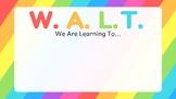 WALT WILF TIB Learning Posters