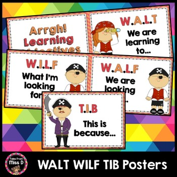 Visible Learning WALT WILF TIB Posters