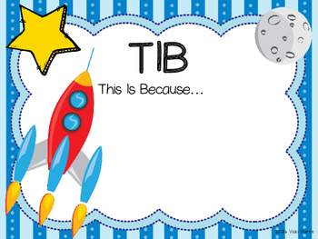 WALT, WILF & TIB Posters - For learning objectives & outcomes.  Space Theme