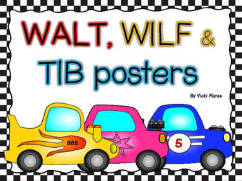 WALT, WILF & TIB Posters - For learning objectives & outcomes - Racing
