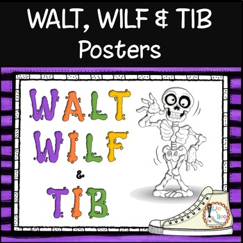 WALT, WILF & TIB Posters - For learning objectives & outcomes - Spooky