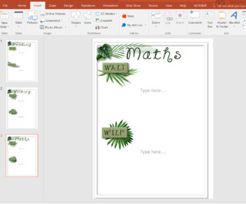 WALT WILF TIB Tropical Leaves Display Learning Intentions