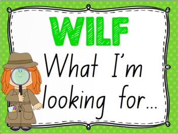 WALT, WILF, TIB, WAGOLL Learning Objective Posters
