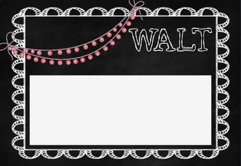 WALT WILF TIB WAGOLL learning objective poster MASON JAR