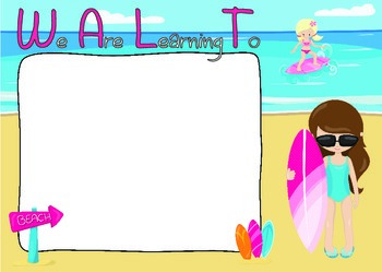 WALT, WILF, TIB & WALA Classroom Posters - Goal Setting