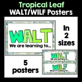 WALT WILF Tropical Leaf Posters
