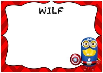WALT WILF and TIB Minion Superhero Posters Batman, Wolverine and Captain America