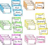 WALT, WILF and TIB- Watercolour Posters QLD Font