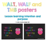 WALT, WILF and TIB posters