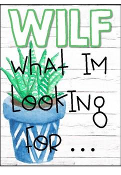 WALT, WILF and TIB posters- SUCCULENT DECOR
