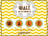W.A.L.T. {We Are Learning To} Board Letters *Freebie*