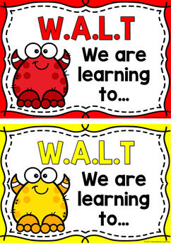 WALT (We Are Learning To) Learning Intention Posters - Monsters
