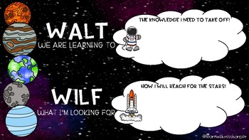WALT and WILF Space Themed