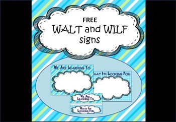 WALT and WILF posters
