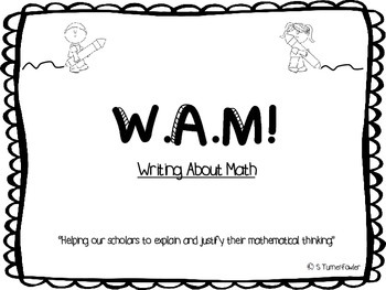 WAM! Writing About Math in the Early Grades