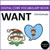 WANT - Digital AAC Core Vocabulary Book - Winter Edition