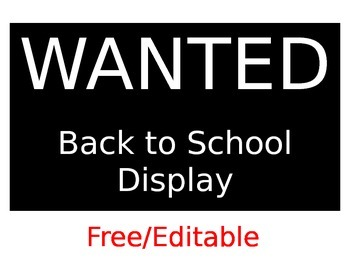 WANTED: A Back to School Display