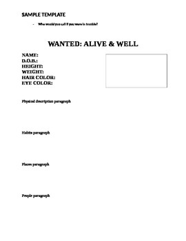 WANTED: ALIVE & WELL poster