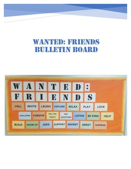 WANTED: FRIENDS Bulletin Board Kit
