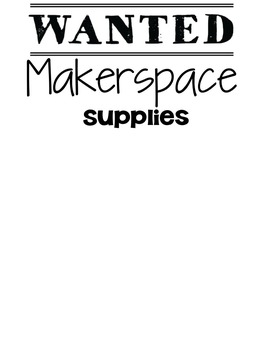 Makerspace Supplies Poster