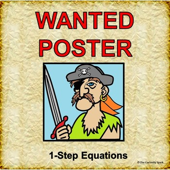 WANTED POSTER: 1-Step Equations