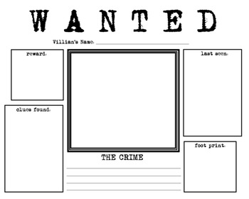 WANTED Poster For Kids