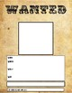 WANTED Poster Template Printable, Fillable or GOOGLE Classroom template