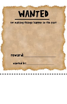 WANTED Poster for Inflectional Ending -ed