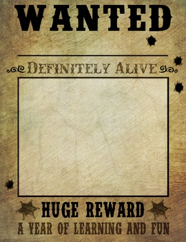 WANTED Posters (Western/Cowboy Theme) by Creative Learning ...