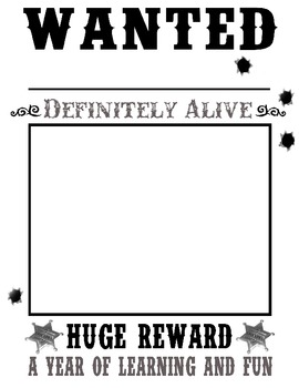 wanted posters western cowboy theme by creative learning with julie