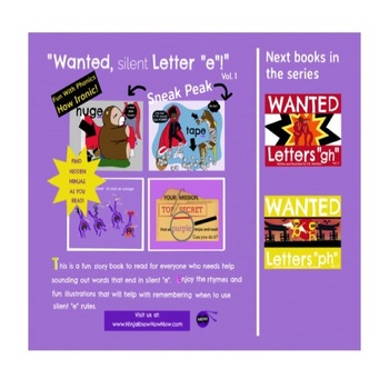 """WANTED Silent Letter """"e"""" - Fun With Phonics--How Ironic--"""