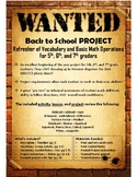 WANTED Western - Order of Operations Project - 5th, 6th, 7th