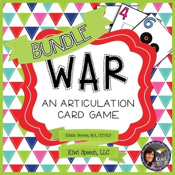 WAR: An Articulation Card Game {ALL SOUNDS BUNDLE}
